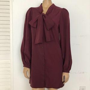 ASOS TIE NECK SHIFT DRESS